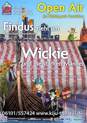 Plakat PDF für das Open-Air Theater des Kinder-und Jugendtheaters Frankfurt