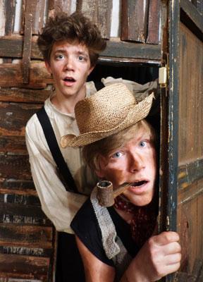 Tom Sawyer und Huckleberry Finn im Kinder-und Jugend-Theater Frankfurt