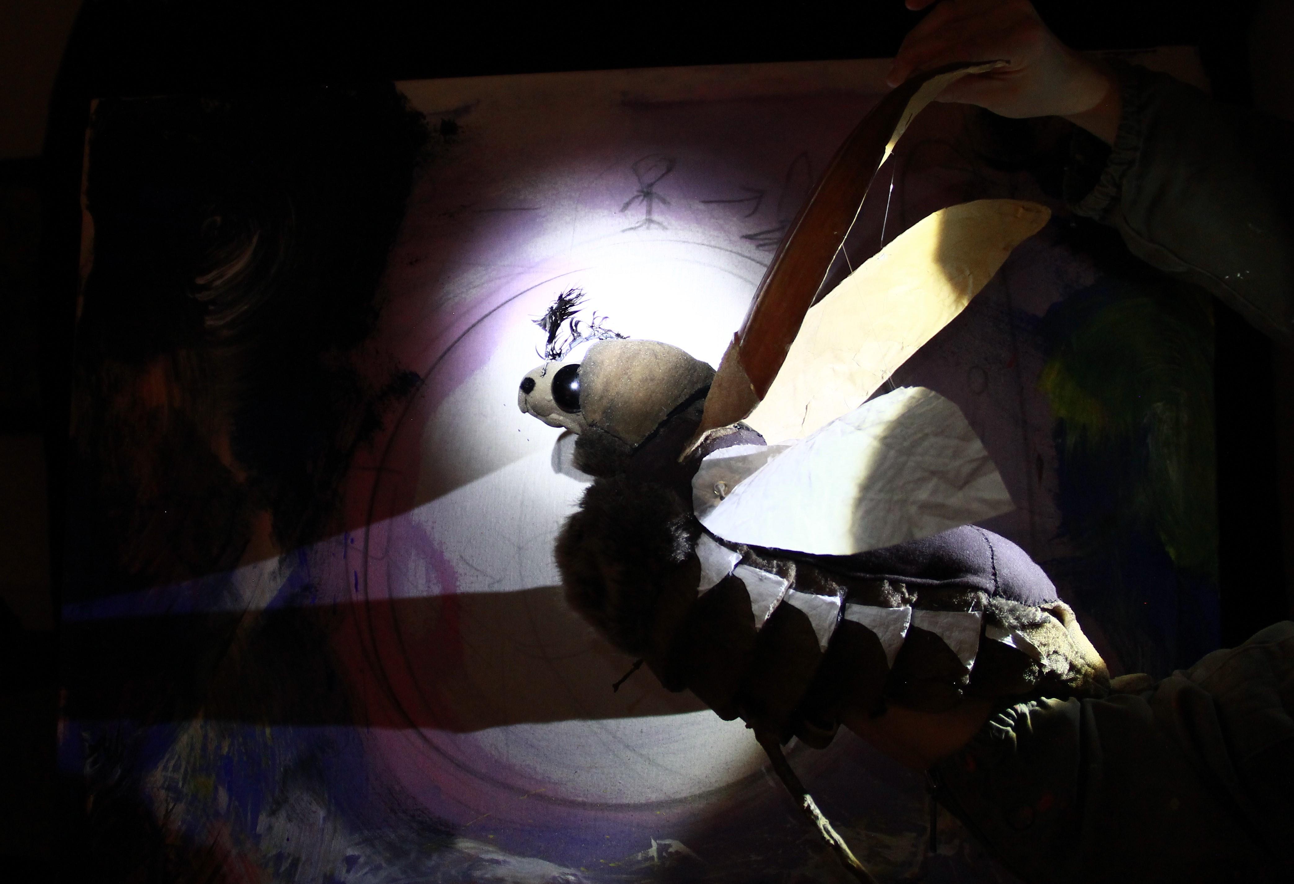 Peterchens Mondfahrt als Puppenspiel im Kinder- und Jugendtheater Frankfurt