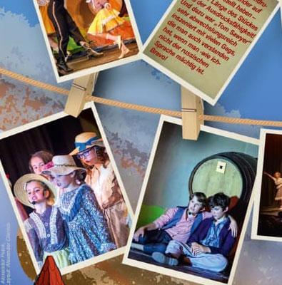 Familien-Musical Tom Sawyer in russischer Sprache im Kinder- und Jugendtheater Frankfurt