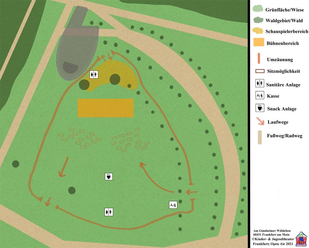 Lageplan Niddapark für Open-Air Kiju-Theater.de